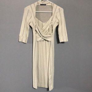 Imanimo Maternity White and Grey Dress sz XS